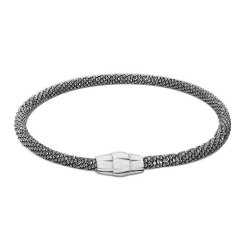 Sterling Silver Sparkle Bracelet With Magnetic Lock (Size 7.5).Silver Wt 8.25 Gms
