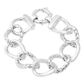Link Bracelet with Senorita Clasp in Thai Sterling Silver 8 Inch