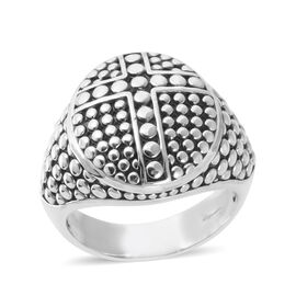 Bali Legacy Collection Sterling Silver Circle Ring, Silver wt 7.14 Gms.
