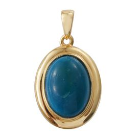 Natural Rare Opalina (Ovl) Solitaire Pendant in 14K Gold Overlay Sterling Silver 4.500 Ct.