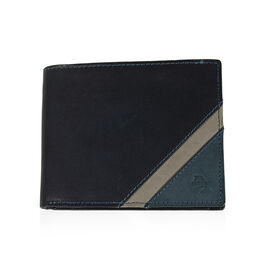 Close Out Deal- 100% Genuine Leather Wallet- Black and Grey