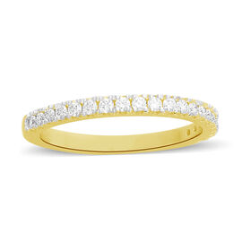 ILIANA 18K Yellow Gold IGI Certified Diamond (Rnd) (SI/G-H) Band Ring 0.330  Ct.
