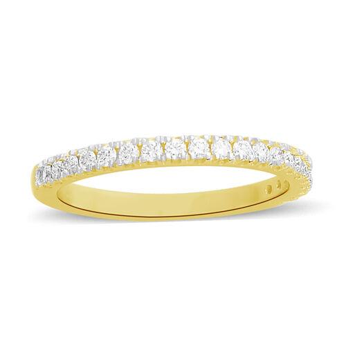 ILIANA 18K Yellow Gold IGI Certified Diamond (Rnd) (SI/G-H) Band Ring 0.330  Ct.