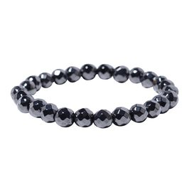 Hematite Stretchable Bead Bracelet (Size 6.5) 144.50 Ct.