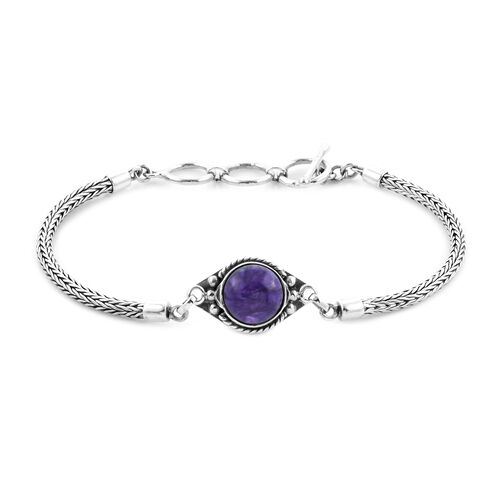 Royal Bali Collection - Russian Chaorite Tulang Naga Bracelet (Size 8 with Extender) in Sterling Sil