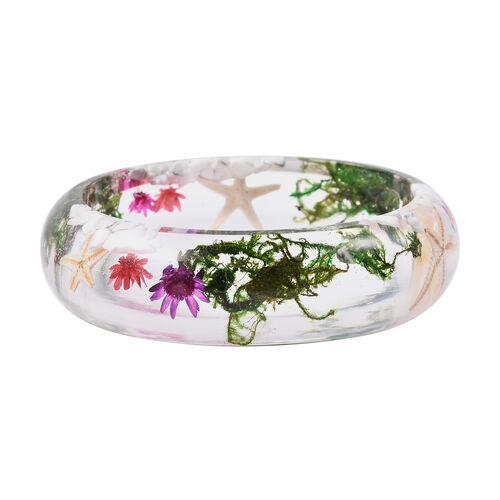 Pressed Flower Bangle (Size 7.5)