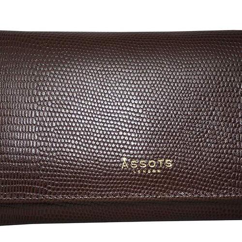 Assots London CLAIRE - 100% Genuine Leather Wallet (20x1.5x10cm) - Brown