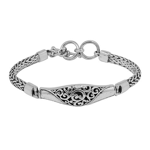 Royal Bali Collection Sterling Silver Tulang Naga Bracelet (Size 7.5), Silver wt 24.71 Gms.