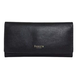 Assots London CLAIRE - 100% Genuine Leather Wallet (20x1.5x10cm ) - Black