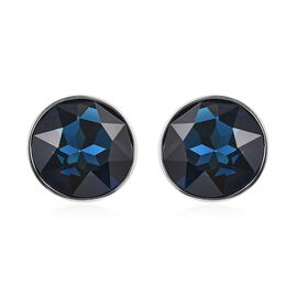 WILLIAM HUNT Simulated London Blue Topaz (Rnd) Cufflink in Silver Tone