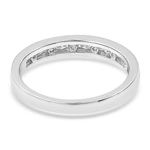 ILIANA 18K White Gold 0.35 Ct Diamond Half Eternity Band Ring IGI Certified (SI/G-H)