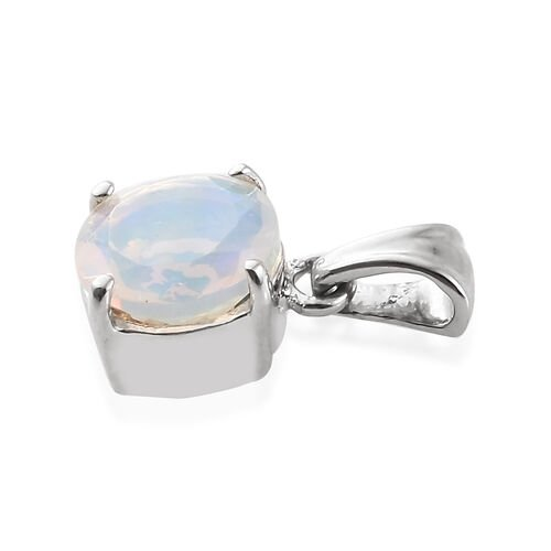 Limited Available RHAPSODY 950 Platinum AAAA Ethiopian Welo Opal (Rnd 7mm) Pendant  0.750  Ct.