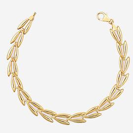 9K Yellow Gold V-Link Bracelet Vintage Style (Size 8.5), Gold Wt. 4.71Gms