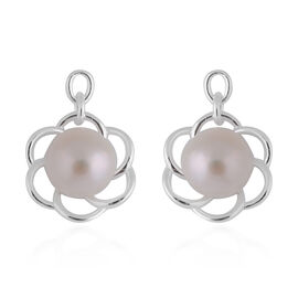 Freshwater White Pearl Earrings in Sterling Silver