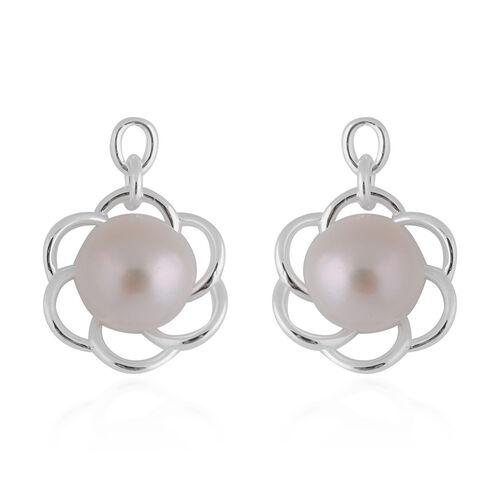 Freshwater White Pearl Earrings in Sterling Silver