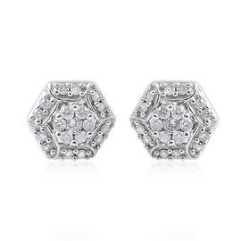 9K White Gold SGL Certified Diamond (Rnd) (I3/G-H) Earrings (with Push Back) 0.250 Ct.