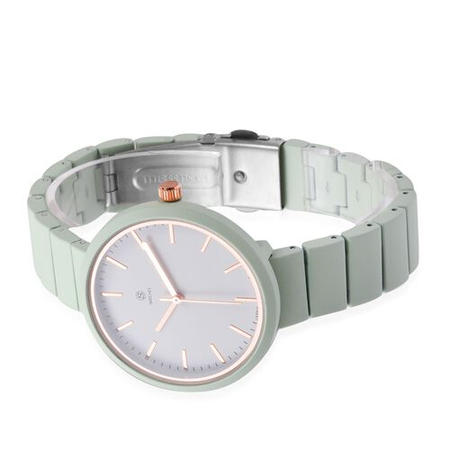 STRADA Japanese Movement Water Resistant Watch with Green Oil Colour Strap