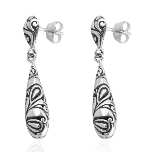 Royal Bali Collection Sterling Silver Drop Dangle Earrings, Silver wt 5.45 Gms.