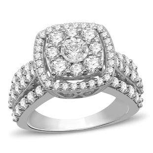 NY Close Out 10K White Gold Diamond (I1-I3/G-H) Ring 2.01 Ct, Gold Wt. 6.3 Gms
