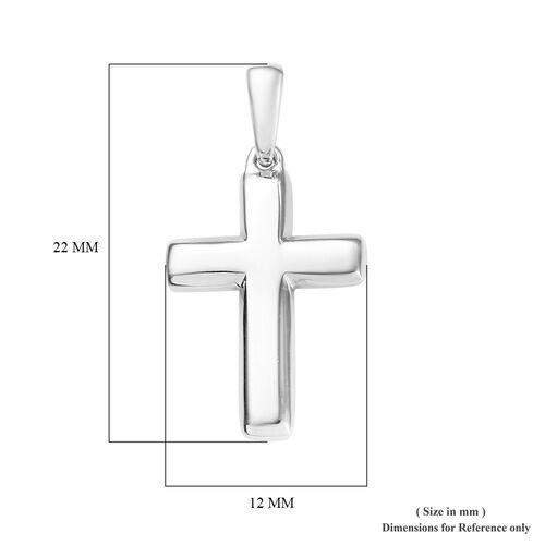 9K White Gold Cross Pendant