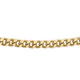 9K Yellow Gold Diamond Cut Curb Chain (Size 24), Gold wt 1.70 Gms