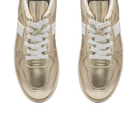 Ravel Coen Leather Trainers (Size 3) - Champagne