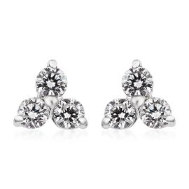 RHAPSODY 950 Platinum IGI Certified Diamond (Rnd) (VS/E-F) Earrings (with Screw Back) 0.25 Ct.
