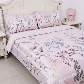 4 Piece Set - Soft and Warm Microflannel Luxury Duvet Set (1 Duvet, 1 Fitted Sheet KING Size and 2 P