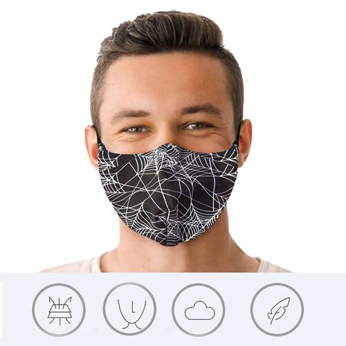 Spider Web Printed Face Cover