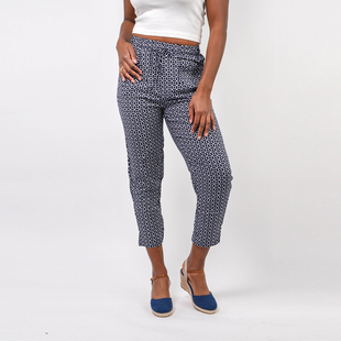 Fully Elasticated Printed Trousers