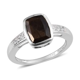 Zawadi Sapphire (Cush), Natural Cambodian Zircon Ring (Size Q) Sterling Silver 3.00 Ct.