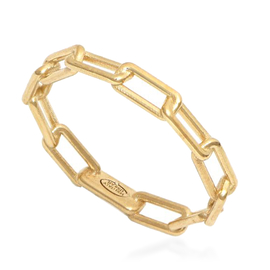 9K Yellow Gold Paper Clip Band Ring