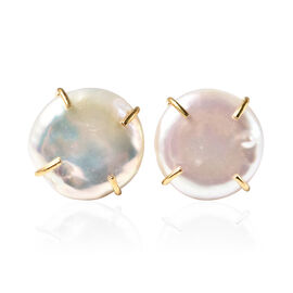 White Keshi Pearl  Earring  Sterling Silver 0.00 ct  0.001  Ct.