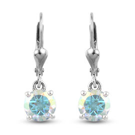 Earrings  in Platinum Overlay Sterling Silver 3.50 ct  3.500  Ct.