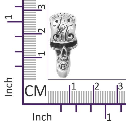 Black Oxidised Sterling Silver Skeleton Pendant, Silver wt 8.17 Gms.