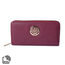 Elegant Purple RFID Long Clutch Wallet