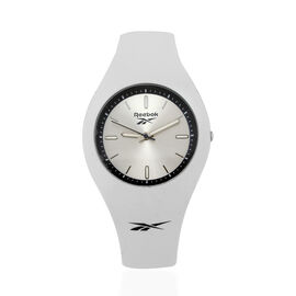 Reebok Water Resistant Sports Watch with White Silicone Strap