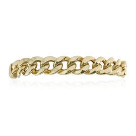 Vicenza Close Out 9K Y Gold Curb Bracelet (Size 8), Gold wt 22.12 Gms.