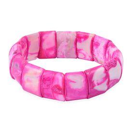Fuschia Agate (Cush) Stretchable Bracelet (Size 7.5)  324.500 Ct
