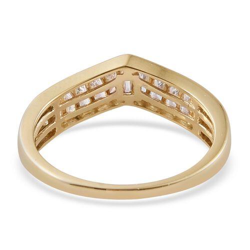 J Francis - 9K Yellow Gold (Bgt) Ring Made with SWAROVSKI ZIRCONIA
