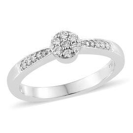 RHAPSODY 950 Platinum IGI Certified Diamond (Rnd) (VS/E-F) Ring 0.200 Ct, Platinum wt 5.63 Gms