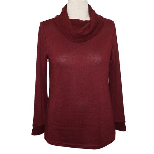 SUGAR CRISP Cowl Neck Jumper (Size XL) - Wine Red