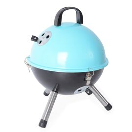 Portable Barbeque Grill (Size: D32xH42.5 Cm) - Blue