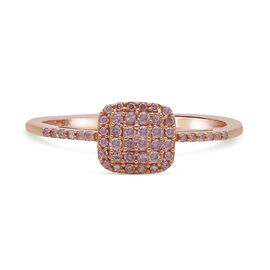 9K Rose Gold Natural Pink Diamond Ring 0.25 Ct.