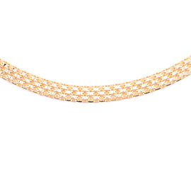 Vicenza Collection 14K Gold Overlay Sterling Silver Bismark Necklace (Size 18 with 2 Inch Extender),