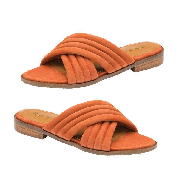 Ravel Sarina Suede Mule Sandals (Size 4) - Rust