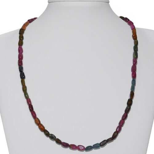 Rainbow Tourmaline Tumble Necklace (Size 20) 120.000 Ct.
