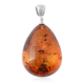Baltic Amber (Pear) Pendant in Sterling Silver