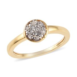 Diamond (Rnd) Ring in 14K Gold Overlay Sterling Silver 0.06 Ct.