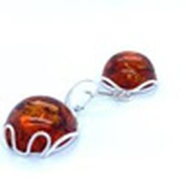 Natural Baltic Amber Lever Back Earrings in Sterling Silver, Silver wt 6.30 Gms